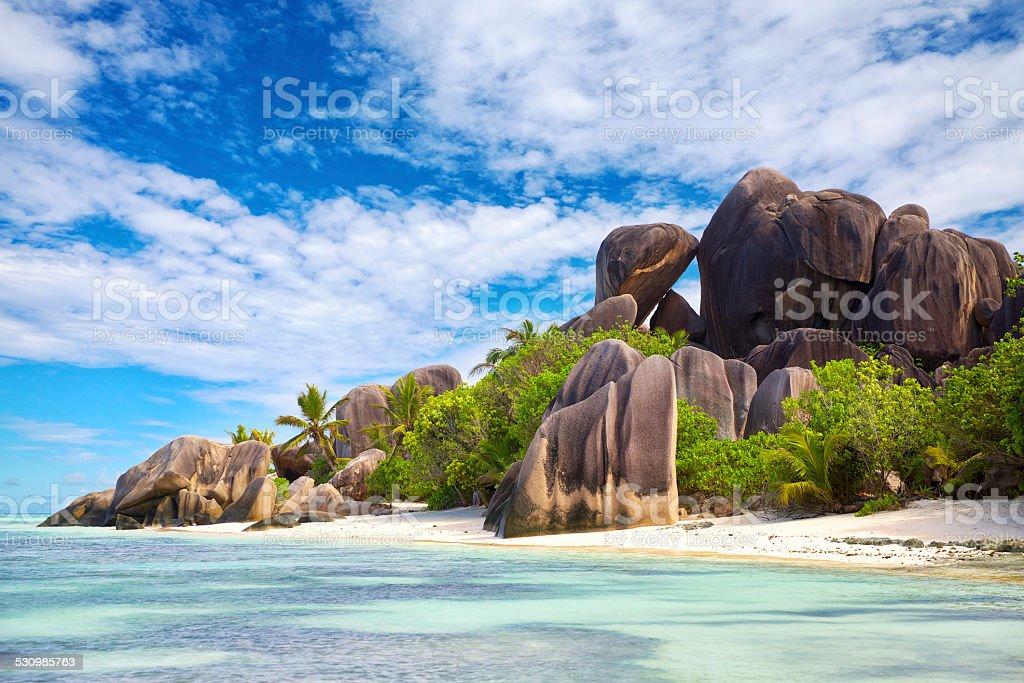 Anse Source d'Argent beach stock photo
