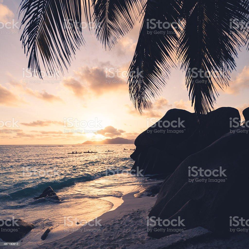 Anse Source D'Argent Beach - Seychelles stock photo