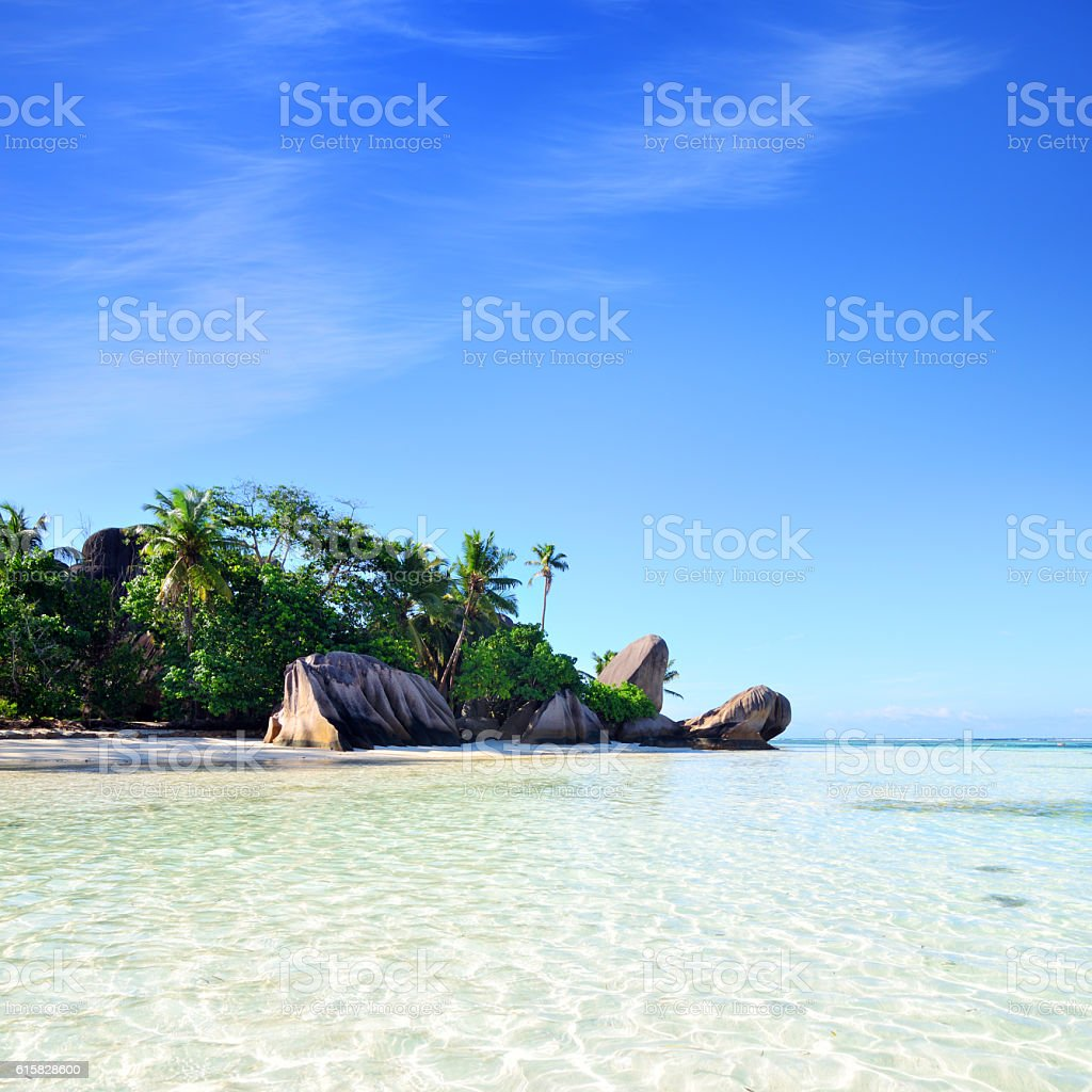 Anse Source D'Argent beach, Seychelles stock photo