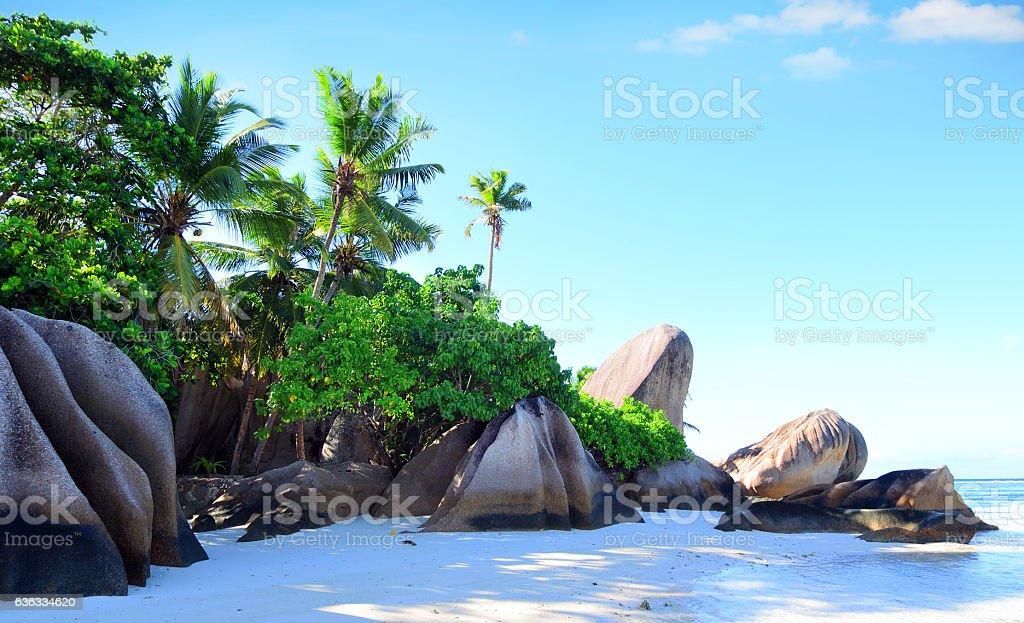 Anse Source D'Argent beach, Seychelles stock photo