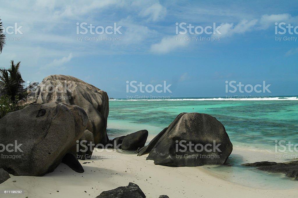 Anse Source d'Argent - Seychelles island stock photo