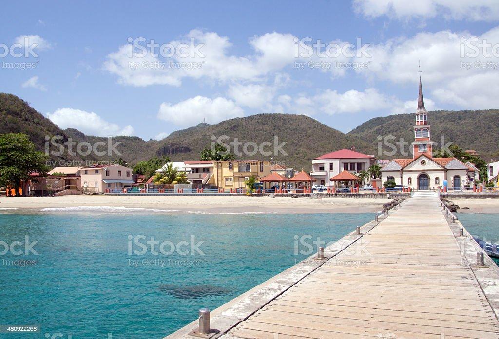 Anses d'Arlet village, Martinique, west indies stock photo