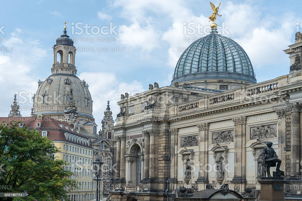 Ansicht der Dresdner Frauenkirche stock photo