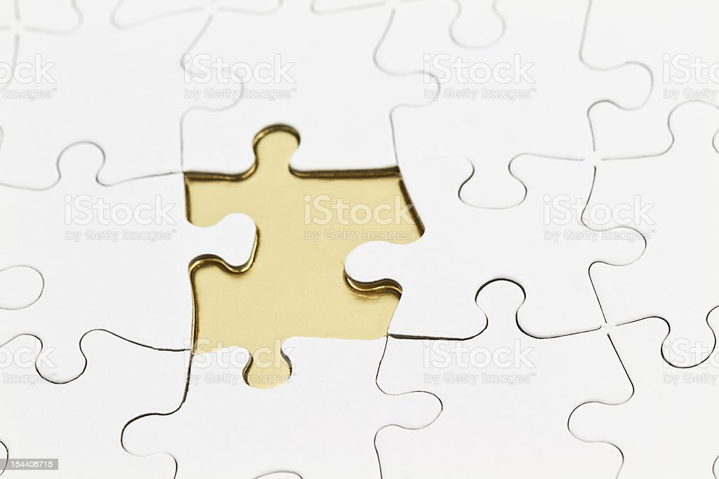 Answer is missing piece of the puzzle royalty-free stock photo