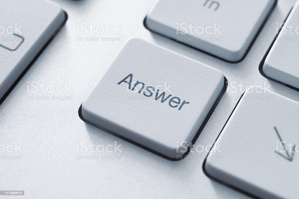 Answer Key royalty-free stock photo