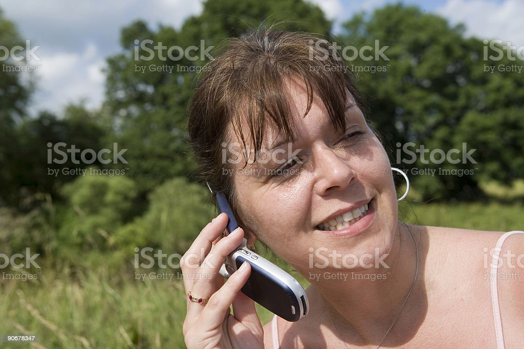 Answering a call royalty-free stock photo