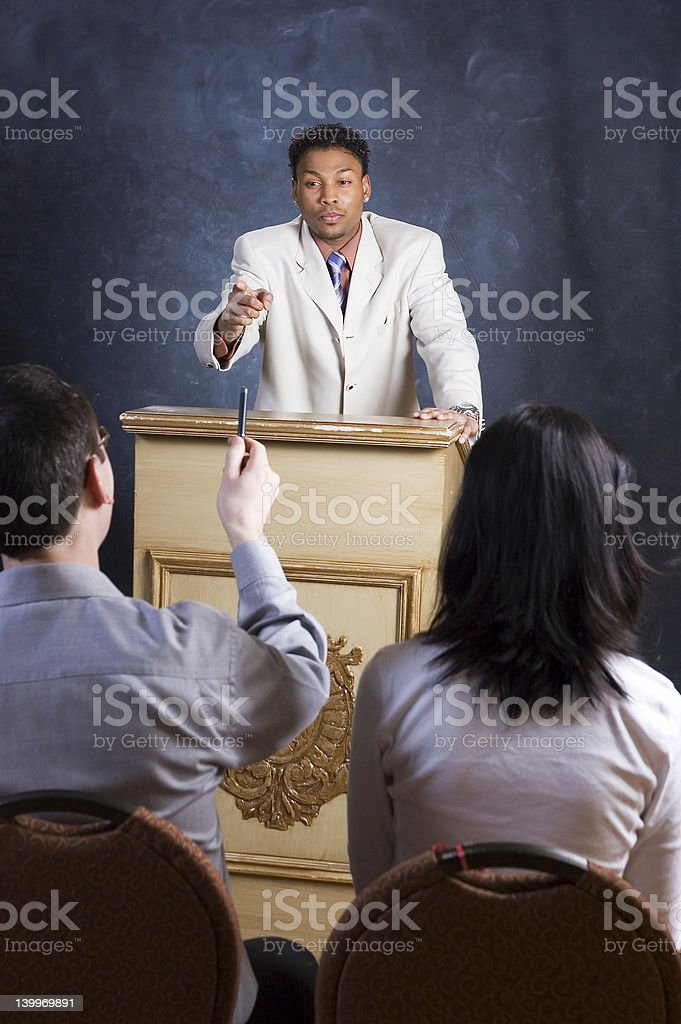 Answering a Question royalty-free stock photo