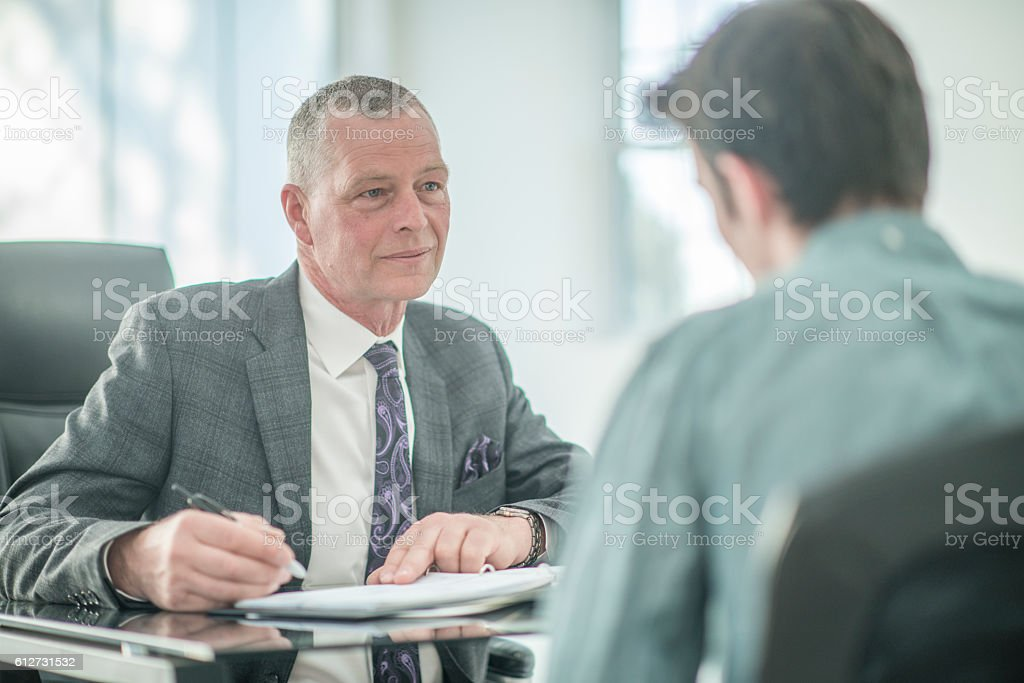 Answering Questions During an Interview stock photo