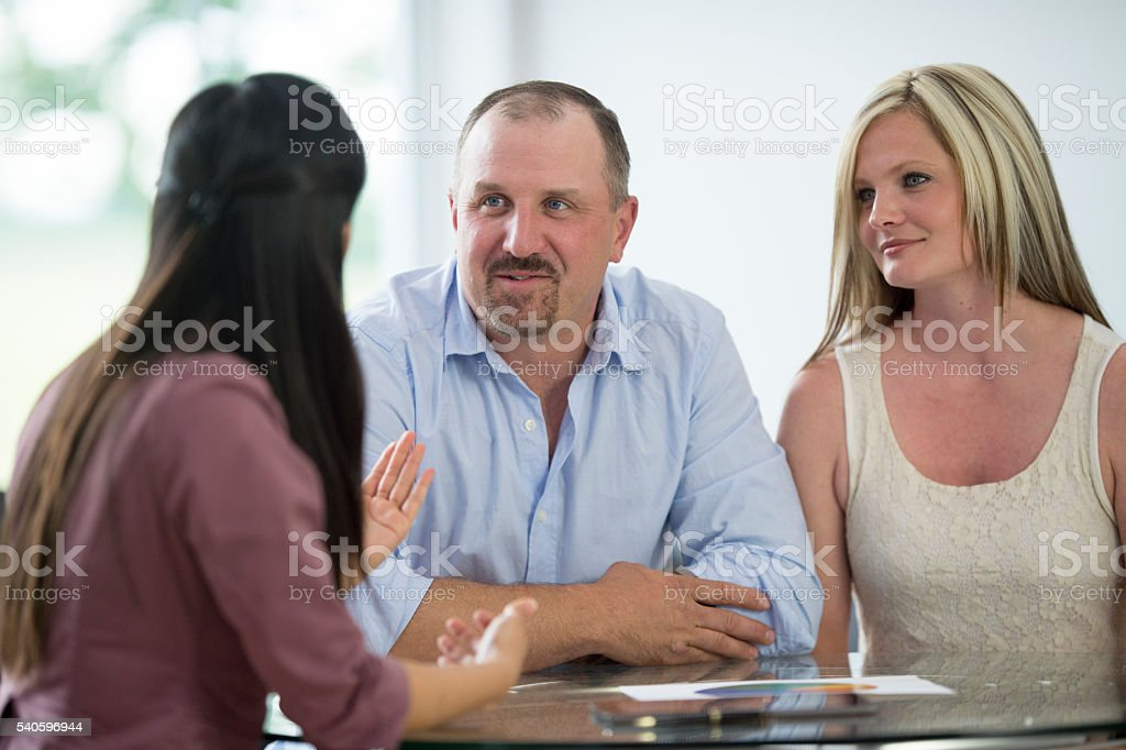 Answering Questions from a Client stock photo