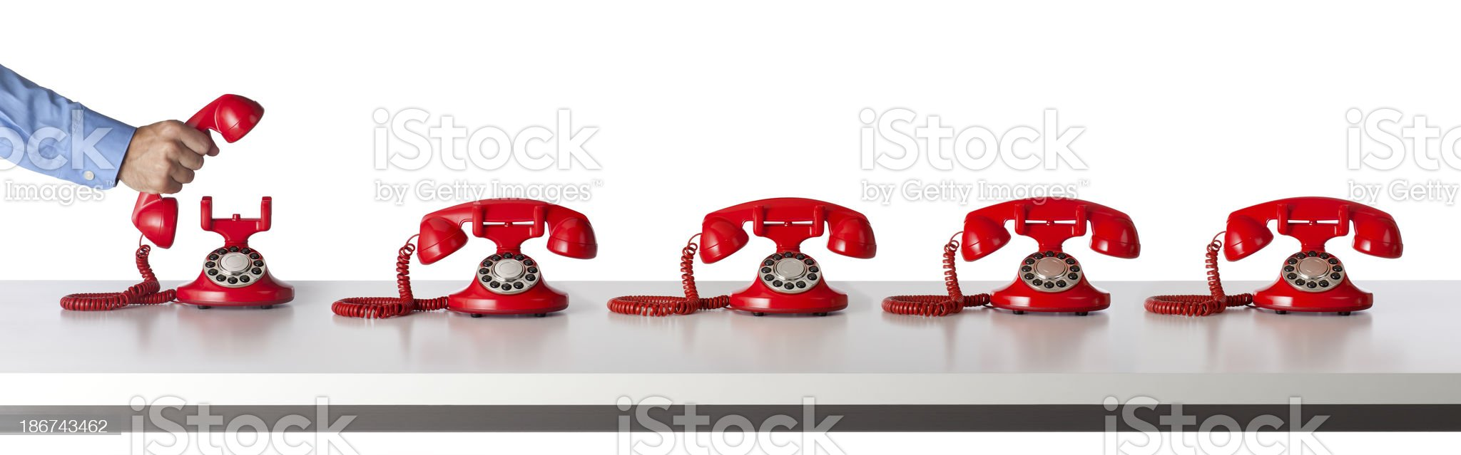 Answering the Telephone royalty-free stock photo
