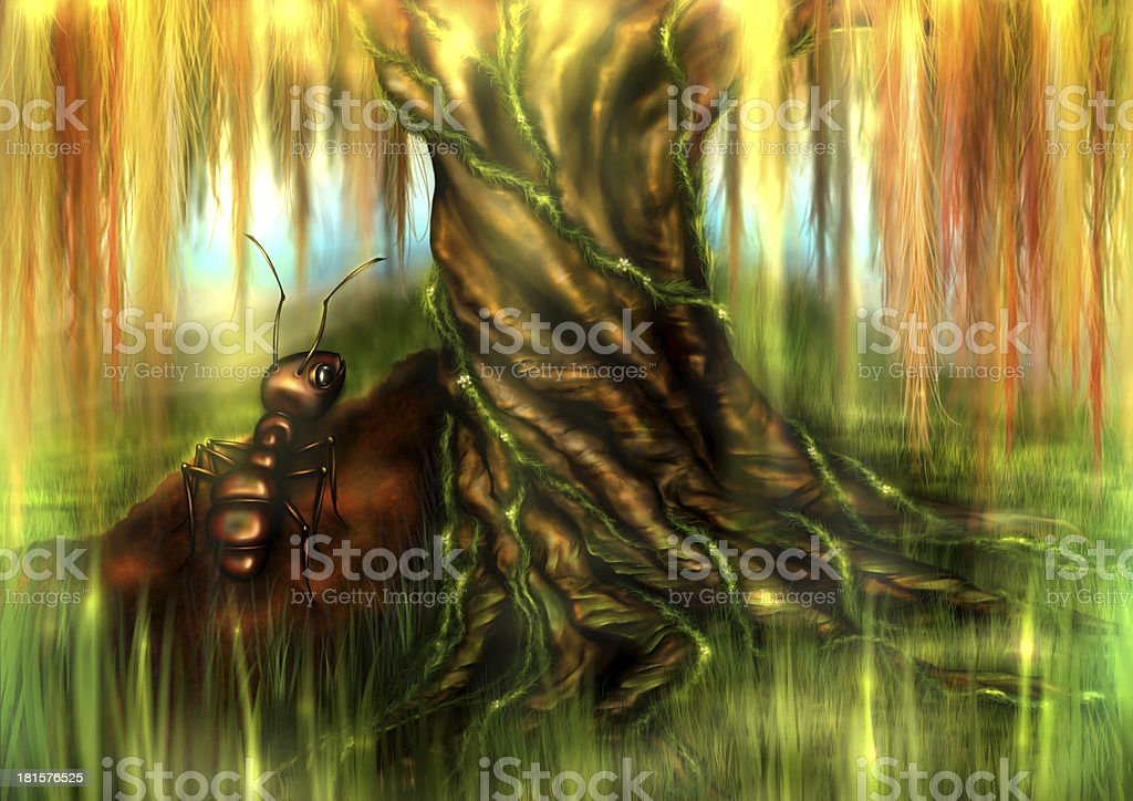 Ant and a Tree royalty-free stock photo