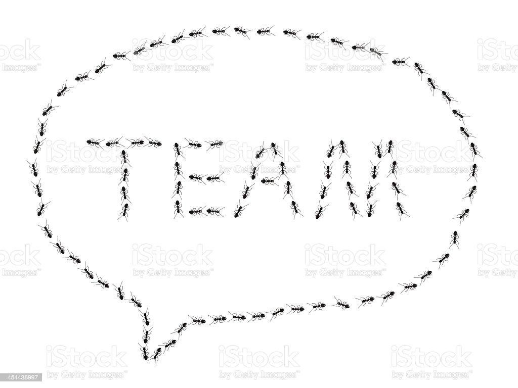 ant team royalty-free stock photo