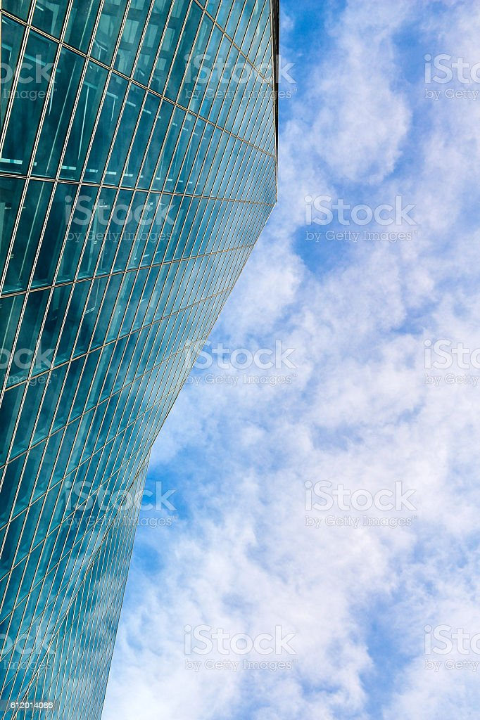 Ant view of Modern buliding with sky stock photo