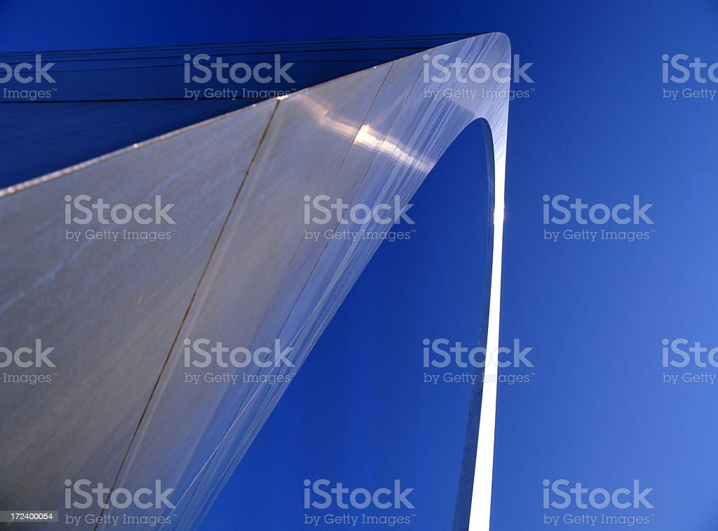 Ant view of St. Louis gateway arch stock photo