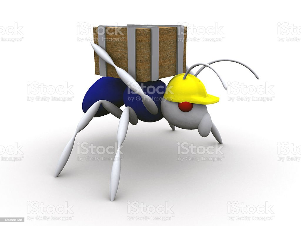 Ant Worker royalty-free stock photo