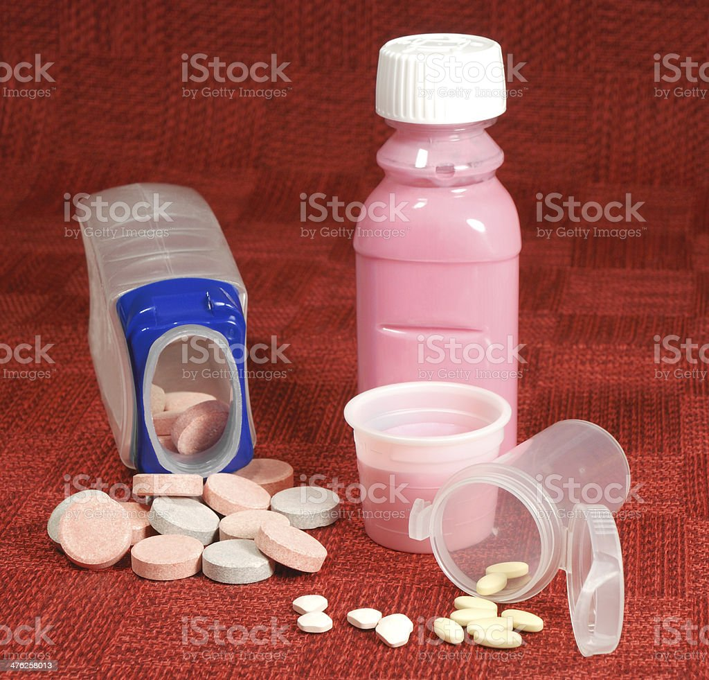 Antacid medication. stock photo