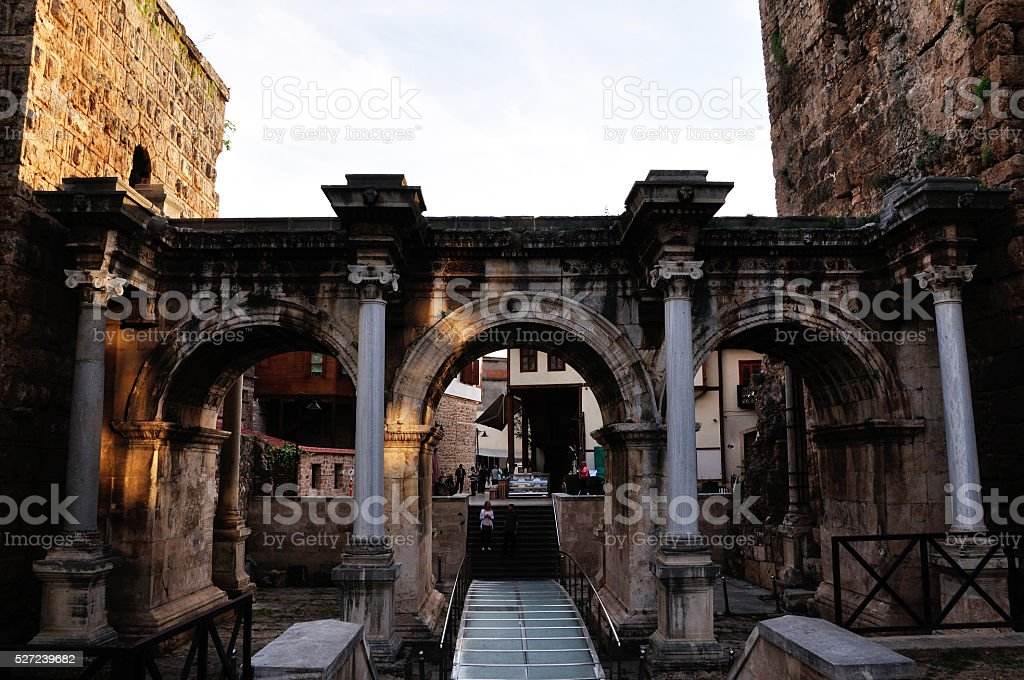 Antalya Hadrian Gate stock photo