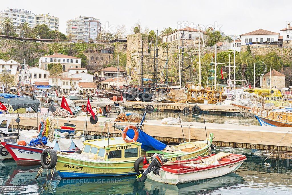 Antalya Harbor royalty-free stock photo