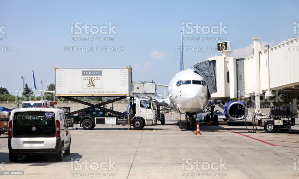 Antalya International Airport stock photo