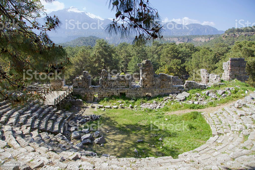 Antalya Phaselis and Theatre stock photo