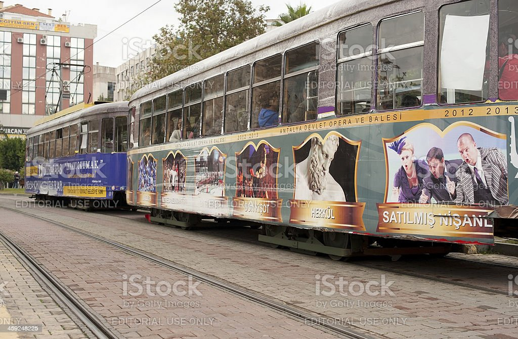 Antalyas Streetcars royalty-free stock photo