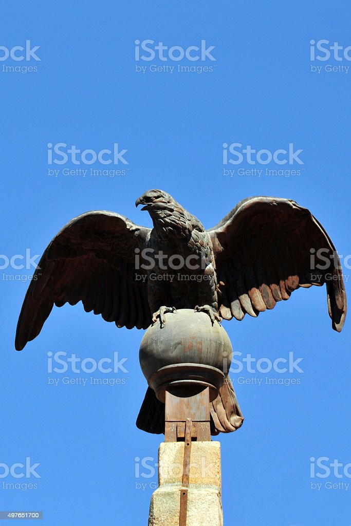 Antananarivo, Madagascar: eagle at the Queen's Palace stock photo