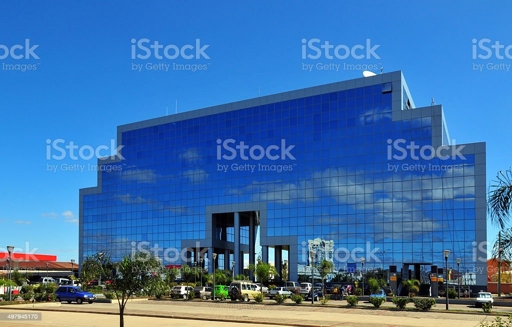 Antananarivo, Madagascar: modern office building, Immeuble Fitaratra stock photo