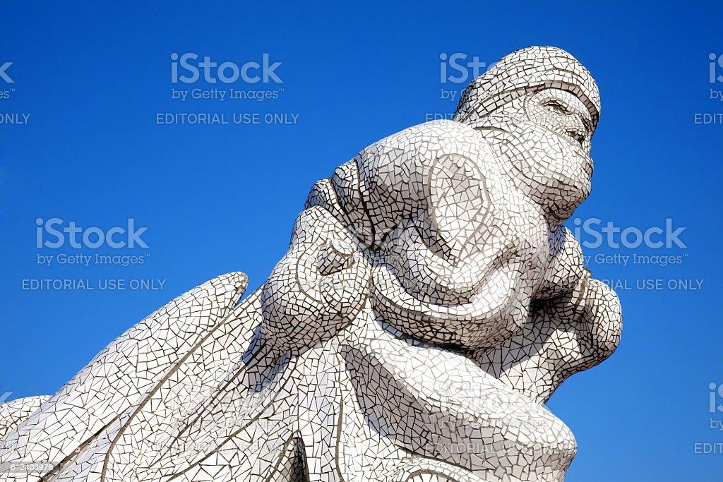 Antarctic 100 Memorial, Cardiff Bay stock photo
