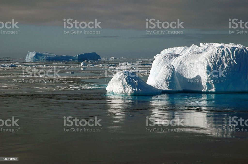 南極の氷山の光 ロイヤリティフリーストックフォト
