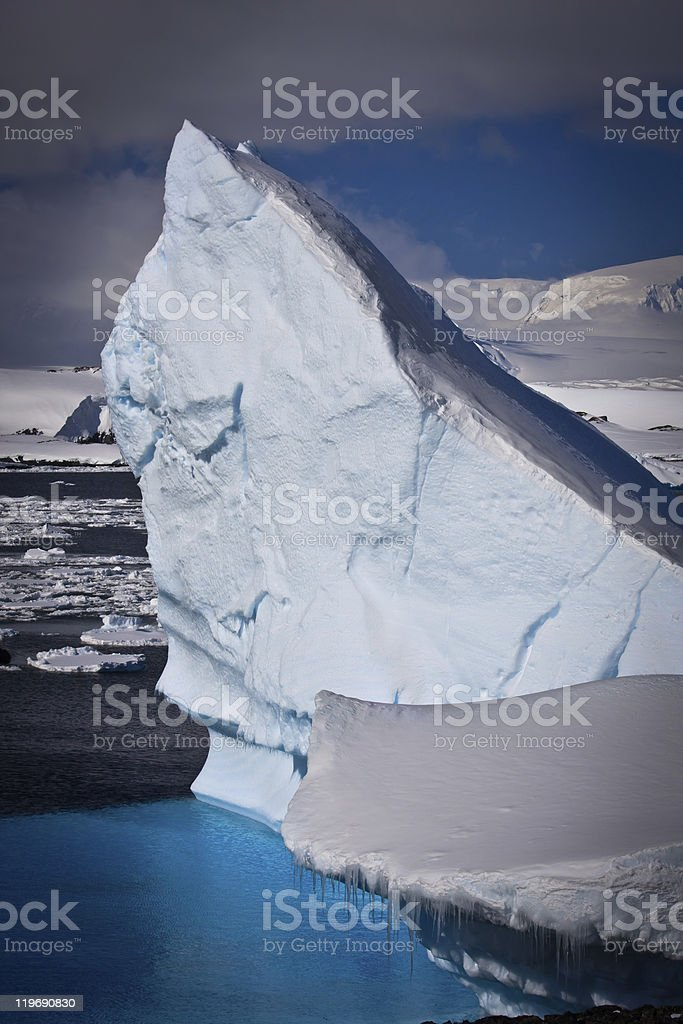 Antarctic iceberg royalty-free stock photo