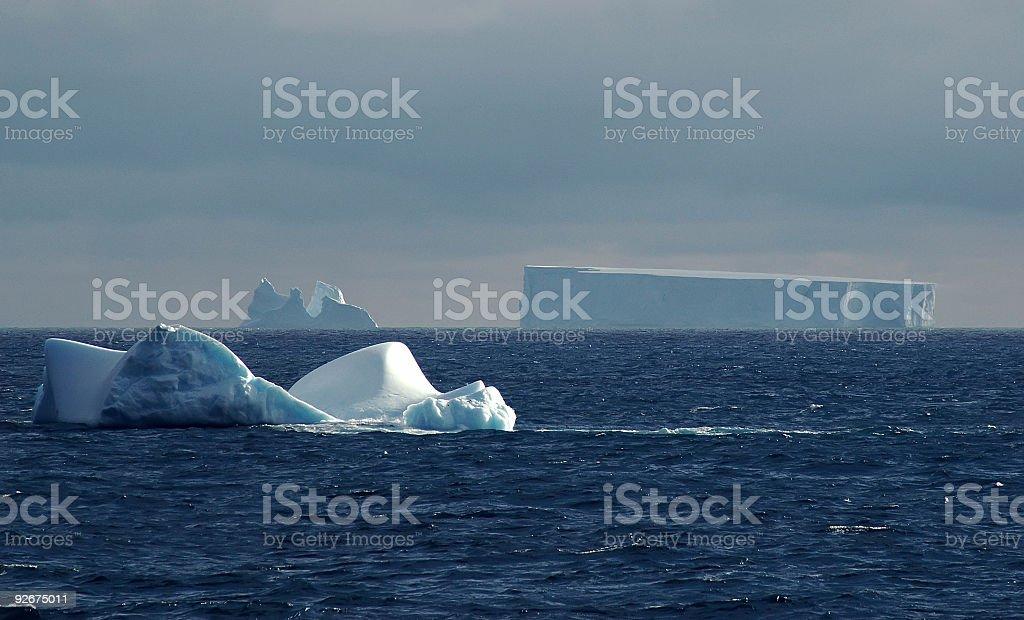 南極氷山の風景 ロイヤリティフリーストックフォト