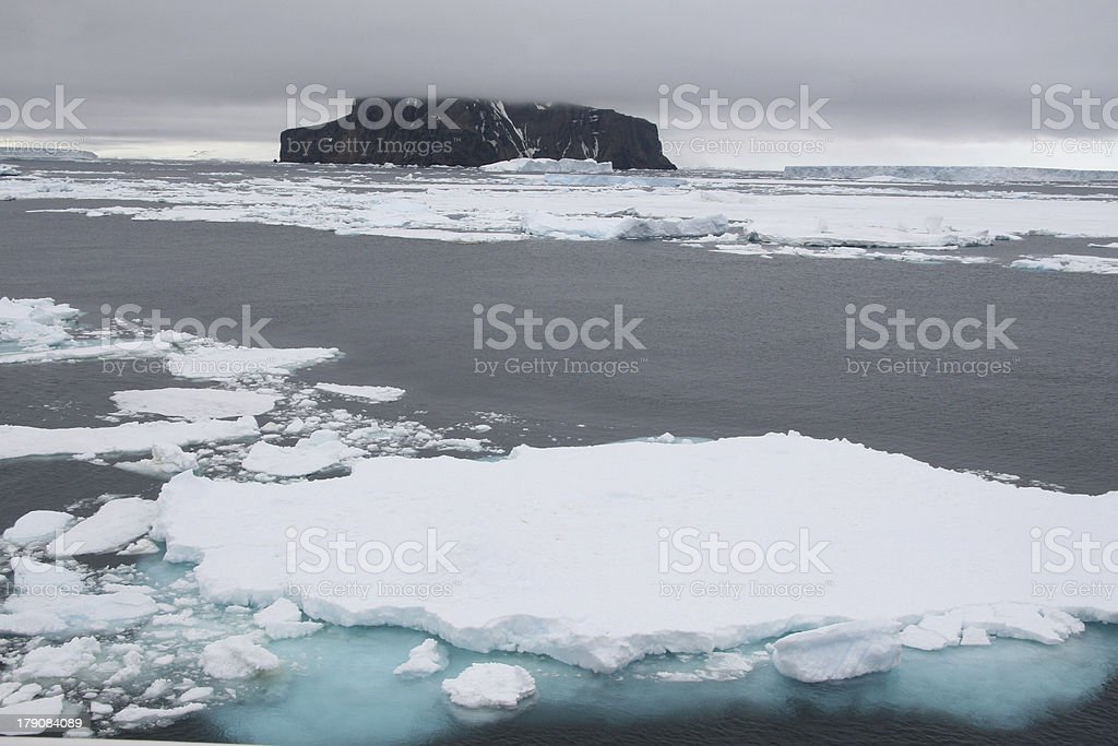 Antarctic landscapes stock photo