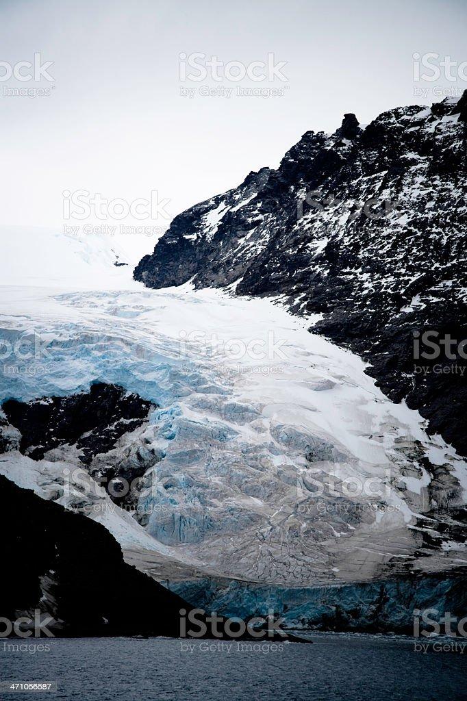 Antarctic Mountain Glacier royalty-free stock photo
