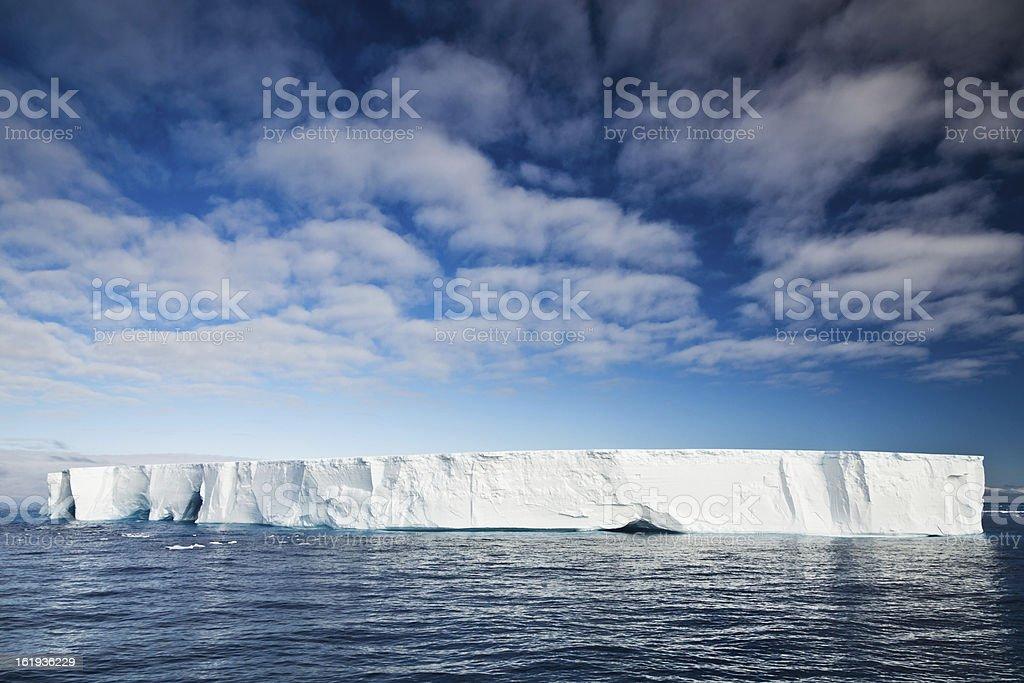 Antarctic Nature Iceberg in South Atlantic Ocean Under Blue Sky stock photo