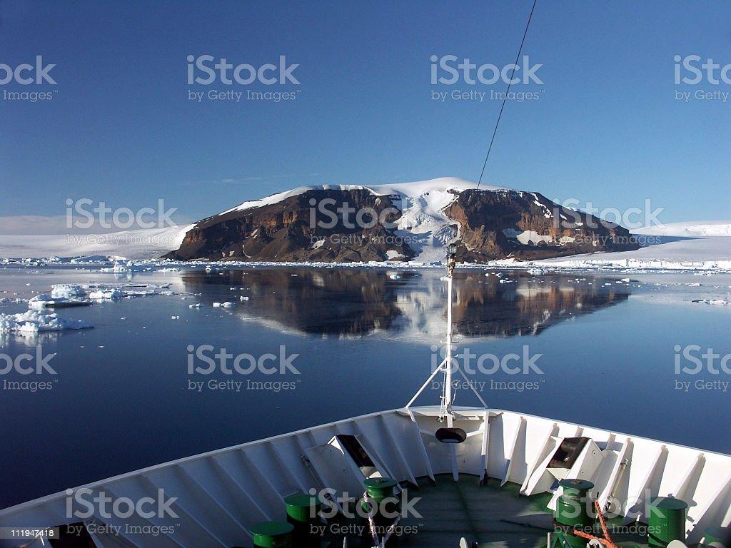Antarctic reflection stock photo