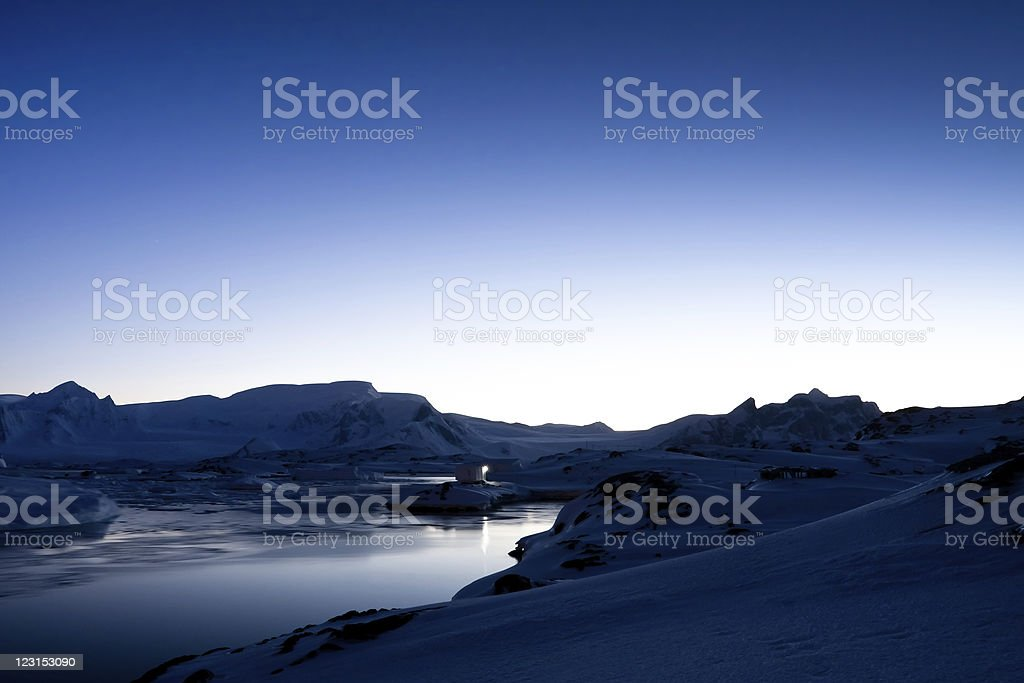 Antarctic sunset royalty-free stock photo