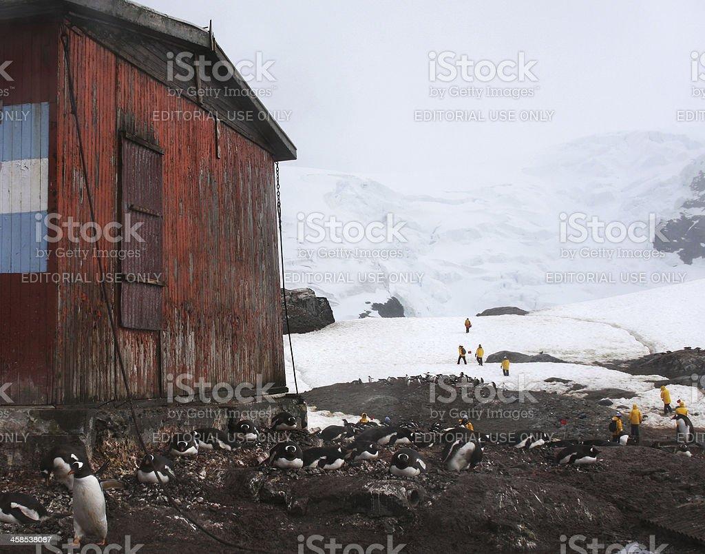 Antarctic Tourism at Cierva Cove stock photo
