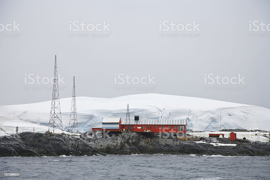 Antarctica Argentine Research Station Melchior Islands stock photo