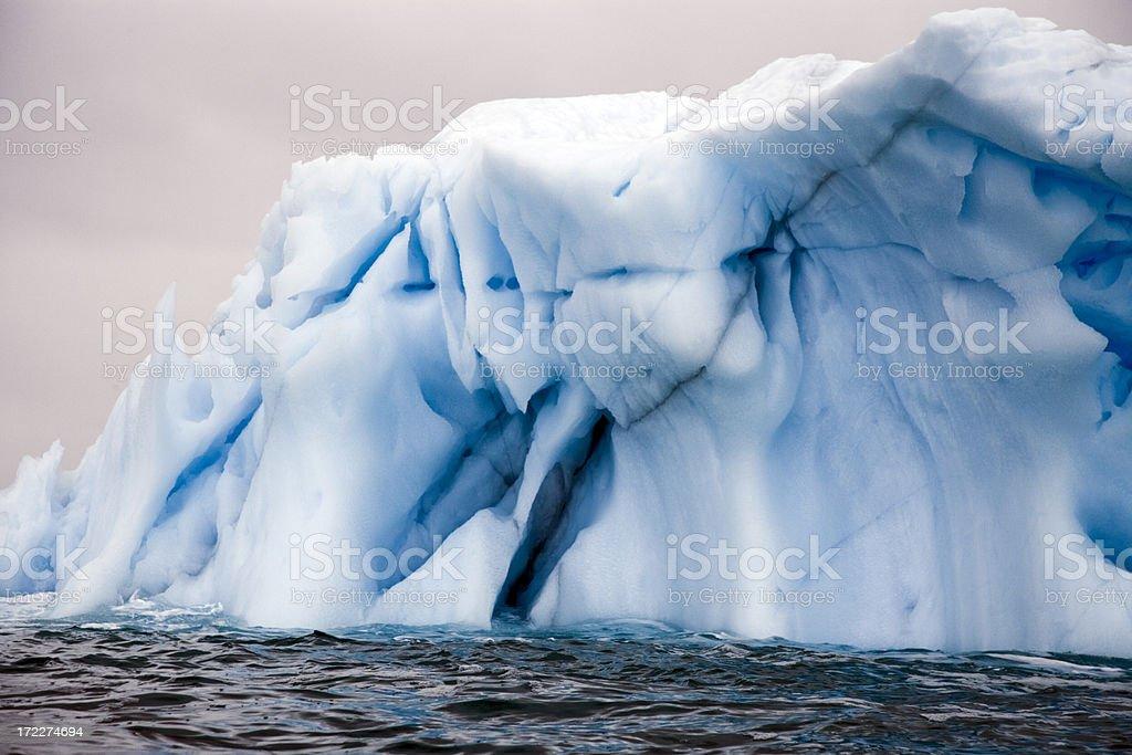 Antarctica Blue Iceberg royalty-free stock photo