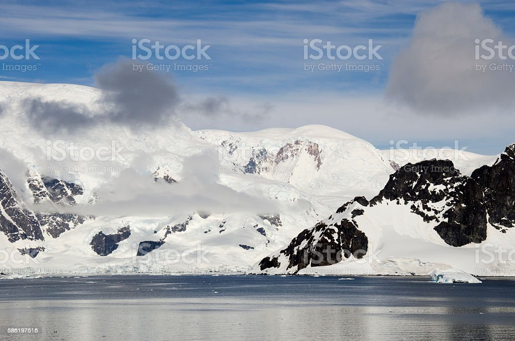 Antarctica - Fairytale landscape in a sunny day stock photo