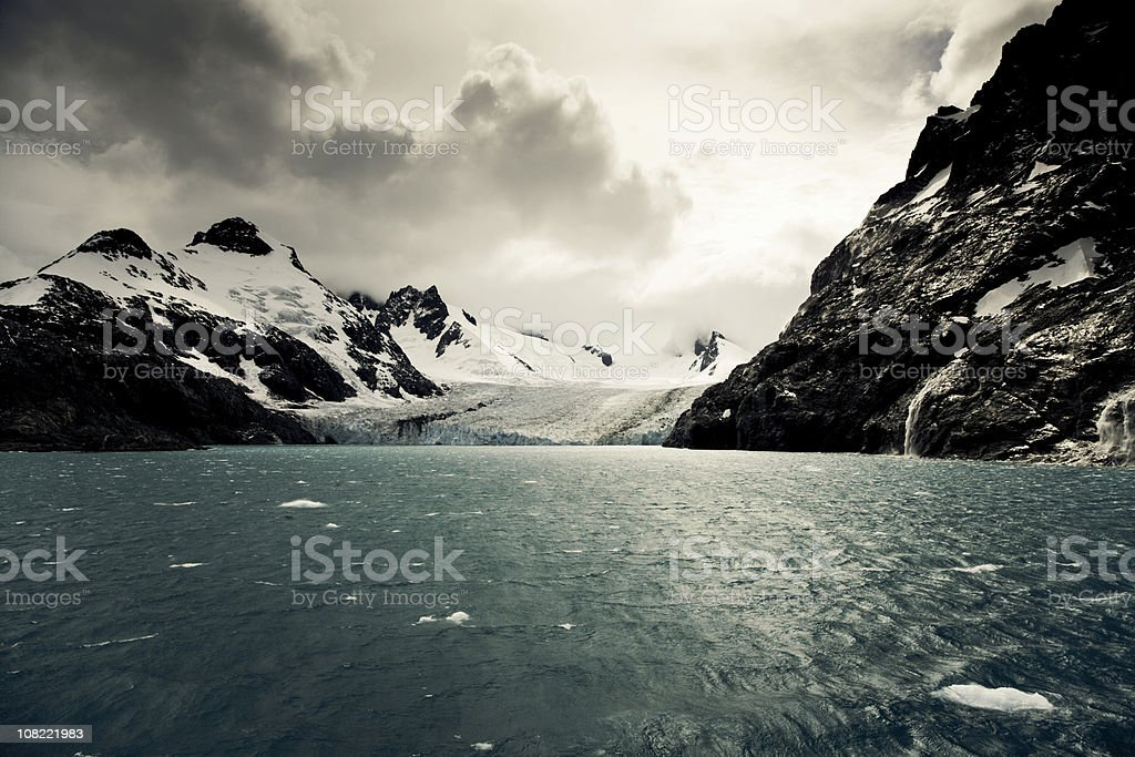 Antarctica Glacier Landscape stock photo