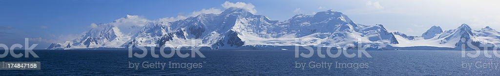 Antarctica Half Moon Island Panorama stock photo