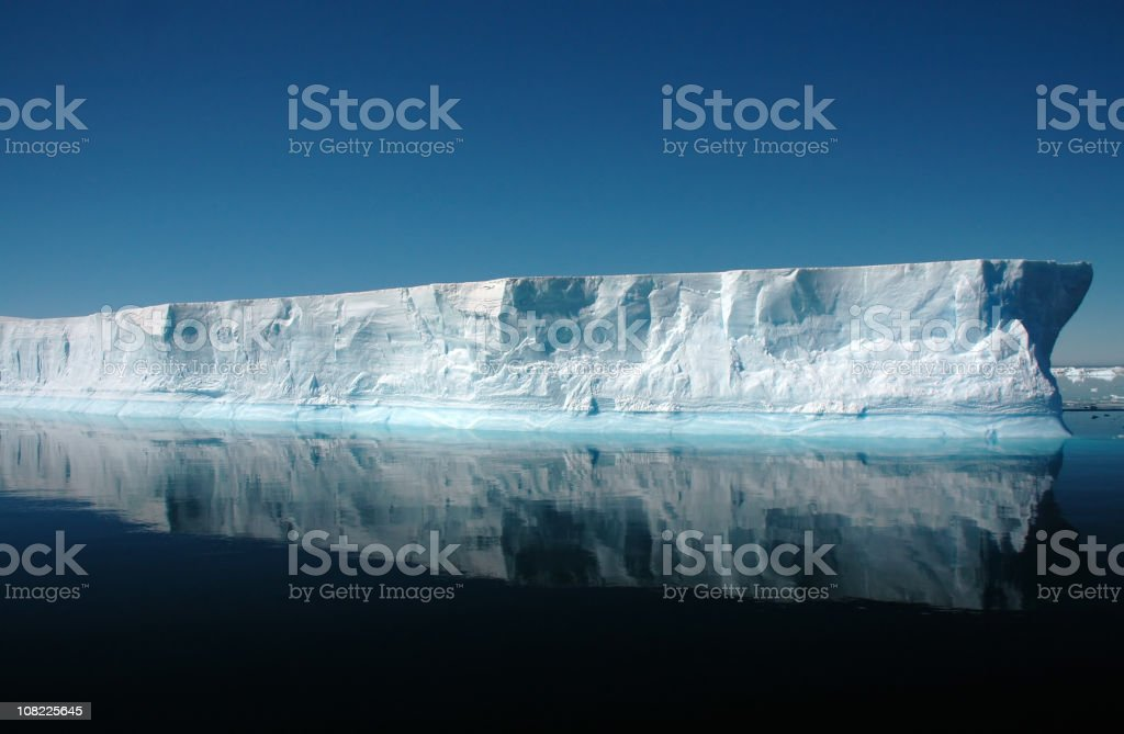 Antarctica Iceberg Floating in Water royalty-free stock photo
