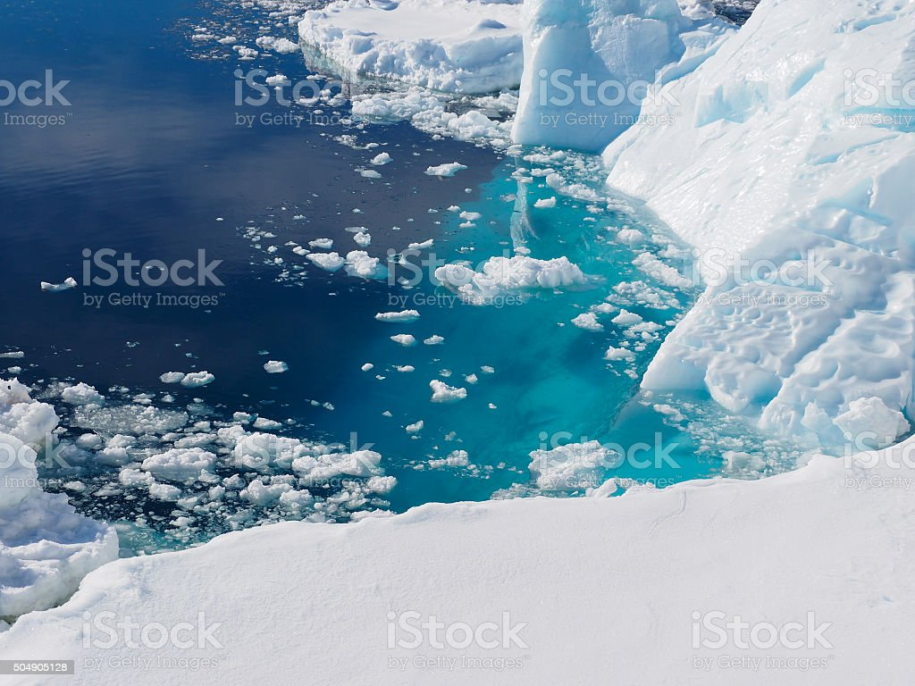 Antarctica iceberg landscape stock photo
