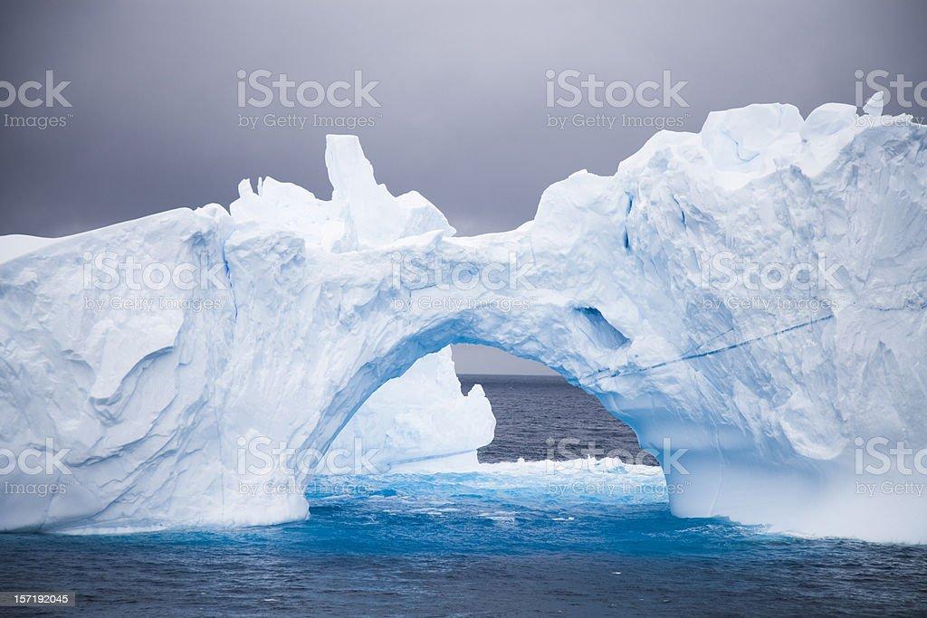 Antarctica Iceberg Natural Arch royalty-free stock photo