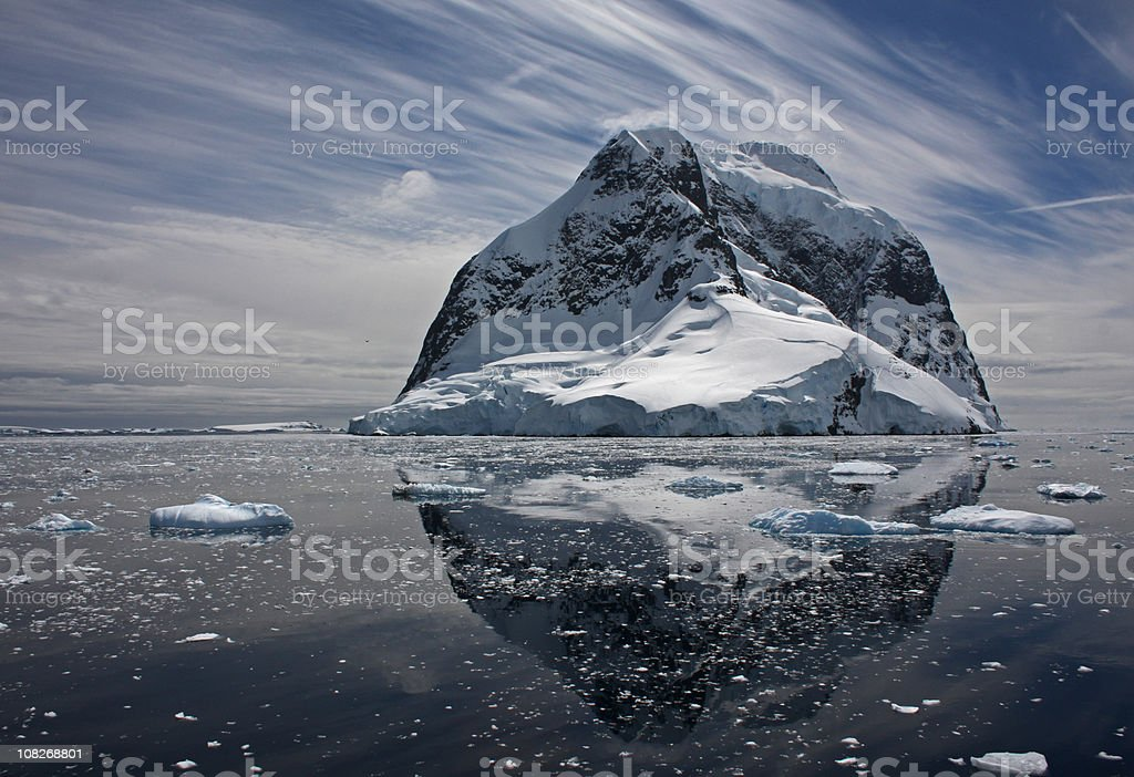 Antarctica Mountain Lemaire Channel stock photo