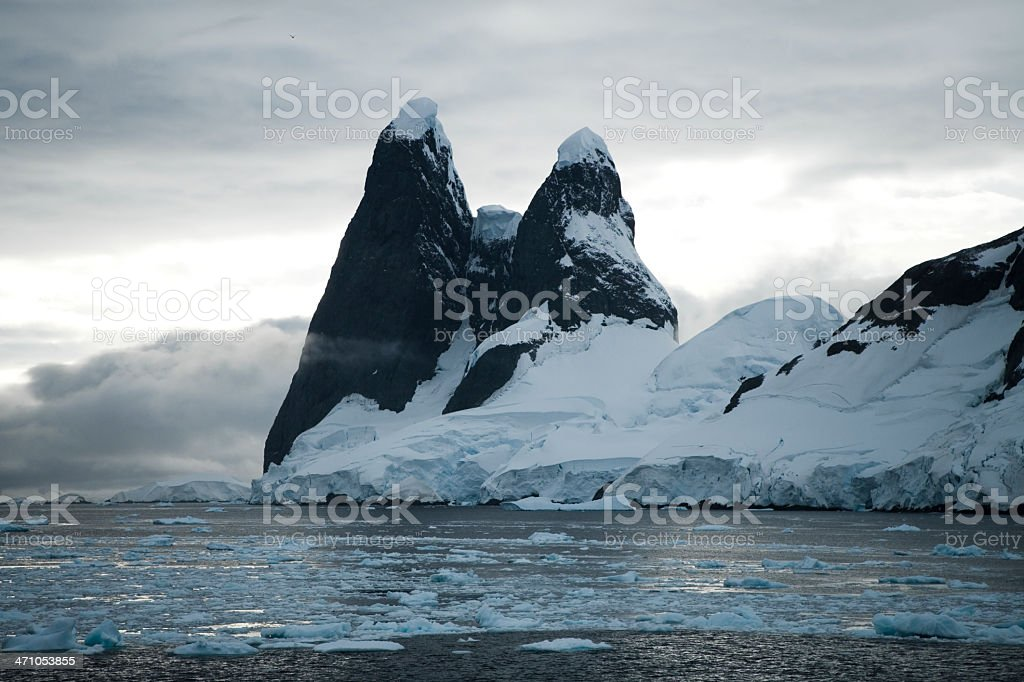 Antarctica Mountain Peaks royalty-free stock photo