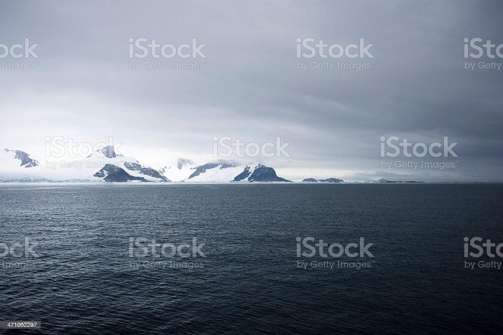 Antarctica Mountain Range royalty-free stock photo