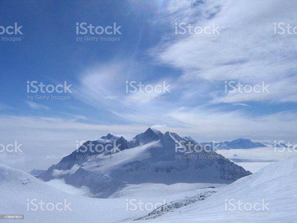 Antarctica Mountain Range stock photo