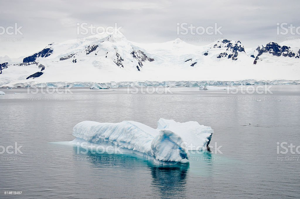 Antarctica - Non-Tabular Iceberg stock photo